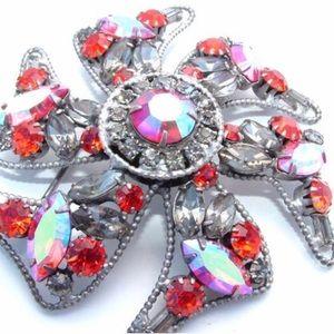 Orange Jewelry Designer Brooch Alice Caviness